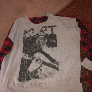 Kurt Cobain flannel t shirt